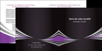 exemple depliant 2 volets  4 pages  web design texture contexture structure MIF86565