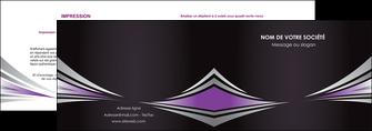 realiser depliant 2 volets  4 pages  web design texture contexture structure MIF86581