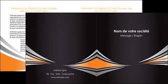 faire depliant 2 volets  4 pages  web design texture contexture structure MIF86617