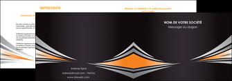 exemple depliant 2 volets  4 pages  web design texture contexture structure MIF86631