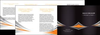 impression depliant 4 volets  8 pages  web design texture contexture structure MIF86655