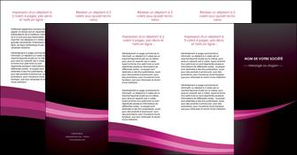 impression depliant 4 volets  8 pages  web design texture contexture structure MLGI87169