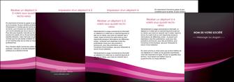 realiser depliant 4 volets  8 pages  web design texture contexture structure MLGI87171