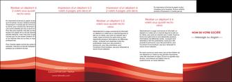 faire modele a imprimer depliant 4 volets  8 pages  web design texture contexture structure MLIP87275