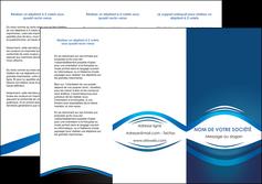 faire depliant 3 volets  6 pages  web design texture contexture structure MLIG87441