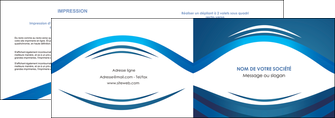 cree depliant 2 volets  4 pages  web design texture contexture structure MLIG87459