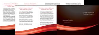 personnaliser maquette depliant 4 volets  8 pages  web design texture contexture structure MLGI87633
