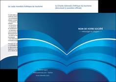 imprimerie depliant 2 volets  4 pages  texture contexture structure MIF87871