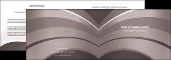 realiser depliant 2 volets  4 pages  web design texture contexture structure MLGI88135