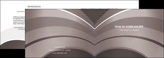 cree depliant 2 volets  4 pages  web design texture contexture structure MLGI88137