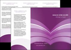 imprimerie depliant 3 volets  6 pages  web design abstrait violet violette MLGI88325