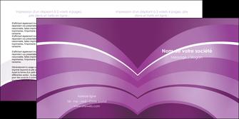 imprimerie depliant 2 volets  4 pages  web design abstrait violet violette MLGI88329