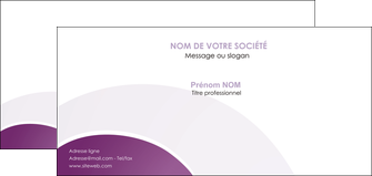 creer modele en ligne carte de correspondance web design abstrait violet violette MLGI88337