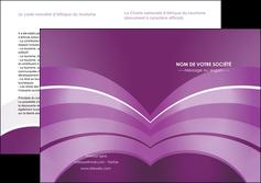 creer modele en ligne depliant 2 volets  4 pages  web design abstrait violet violette MLGI88339