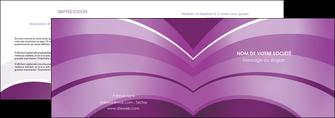 creer modele en ligne depliant 2 volets  4 pages  web design abstrait violet violette MLGI88343