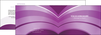 modele depliant 2 volets  4 pages  web design abstrait violet violette MLGI88345