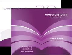 imprimerie carte de visite web design abstrait violet violette MLGI88351