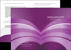 creer modele en ligne depliant 2 volets  4 pages  web design abstrait violet violette MLGI88353