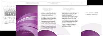 realiser depliant 4 volets  8 pages  web design abstrait violet violette MLGI88361