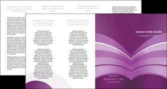 imprimerie depliant 4 volets  8 pages  web design abstrait violet violette MLGI88365