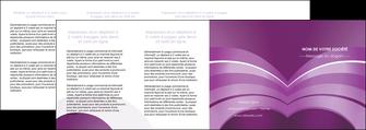 creer modele en ligne depliant 4 volets  8 pages  web design abstrait violet violette MLGI88367