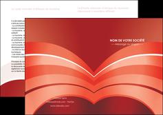 creer modele en ligne depliant 2 volets  4 pages  web design texture contexture structure MLGI88391