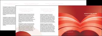 personnaliser maquette depliant 4 volets  8 pages  web design texture contexture structure MLGI88419