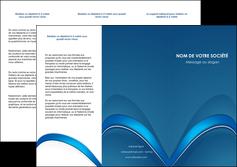 creer modele en ligne depliant 3 volets  6 pages  web design texture contexture structure MLGI88759