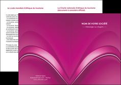 creer modele en ligne depliant 2 volets  4 pages  web design texture contexture structure MLIG88877