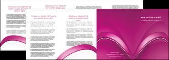 personnaliser modele de depliant 4 volets  8 pages  web design texture contexture structure MLIG88881