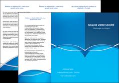 faire depliant 3 volets  6 pages  web design texture contexture structure MLGI88949