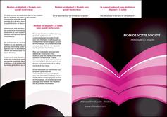 realiser depliant 3 volets  6 pages  web design texture contexture couleurs MLGI89001