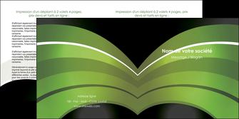 realiser depliant 2 volets  4 pages  web design texture contexture structure MLGI89057