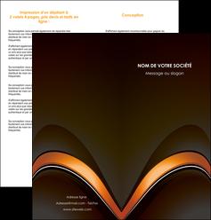 faire depliant 2 volets  4 pages  web design texture contexture structure MLGI89513