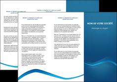 modele depliant 3 volets  6 pages  web design texture contexture structure MLIP90107