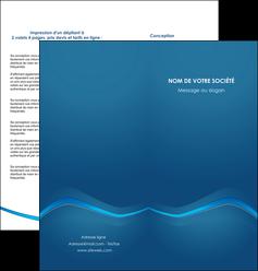 modele depliant 2 volets  4 pages  web design texture contexture structure MLIP90109