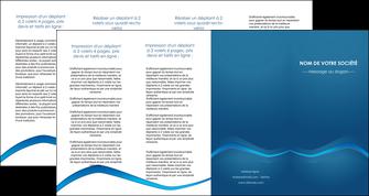 realiser depliant 4 volets  8 pages  web design texture contexture structure MLIP90127