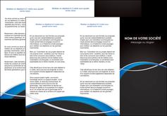 cree depliant 3 volets  6 pages  reseaux texture contexture structure MIS90865