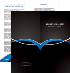 realiser depliant 2 volets  4 pages  reseaux texture contexture structure MIS90867