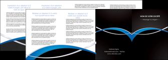 creer modele en ligne depliant 4 volets  8 pages  reseaux texture contexture structure MIS90901