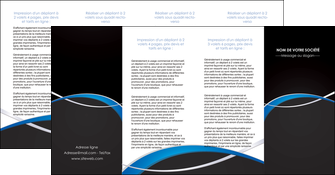 cree depliant 4 volets  8 pages  reseaux texture contexture structure MIS90905