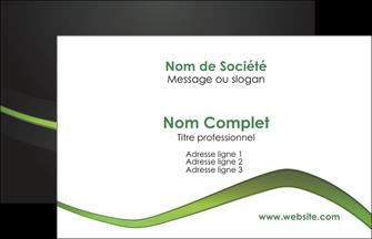 Commander Carte pelliculage SoftTouch Web Design modèle graphique pour devis d'imprimeur Carte de Visite - Paysage
