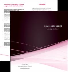 impression depliant 2 volets  4 pages  web design texture contexture structure MLGI92899