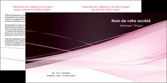 personnaliser maquette depliant 2 volets  4 pages  web design texture contexture structure MLGI92901
