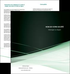 cree depliant 2 volets  4 pages  web design texture contexture structure MLIG92951