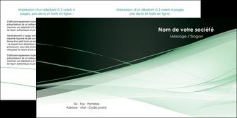 realiser depliant 2 volets  4 pages  web design texture contexture structure MLGI92953