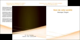 cree depliant 2 volets  4 pages  web design texture contexture structure MLGI93005