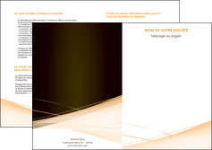 personnaliser maquette depliant 2 volets  4 pages  web design texture contexture structure MLGI93015