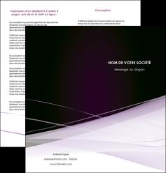 cree depliant 2 volets  4 pages  reseaux texture contexture structure MLGI93079
