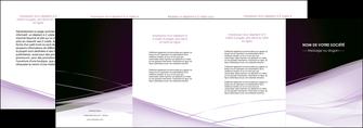 cree depliant 4 volets  8 pages  reseaux texture contexture structure MLGI93093